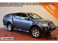 Mitsubishi L200 2.5DI-D CR 4WD LB Double Pickup auto Barbarian-LEATHER-SAT NAV-