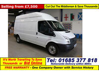 2013 - 63 - FORD TRANSIT T350 2.2TDCI 100PS RWD HIGH-TOP LWB VAN (GUIDE PRICE)