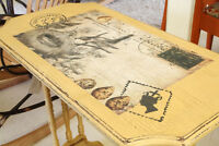 FRENCH COUNTRY, SHABBY SHIC VINTAGE/ANTIQUE TABLE, REFINISHED