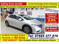 2013 - 63 - HONDA CIVIC 1.6 I-DTEC ES-T 120 5 DOOR HATCHBACK (GUIDE PRICE)