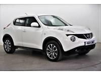 2014 Nissan Juke TEKNA Petrol white Manual