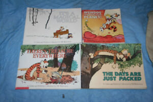 4 Calvin and Hobbes Comic Books