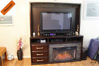 Reduced - Entertainment Centre - TV unit & fireplace, and hutch