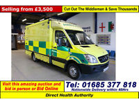 2007 - 07 - MERCEDES SPRINTER 515 2.2CDI UV MODULAR BODY AMBULANCE / CAMPER