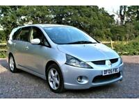 2005 MITSUBISHI GRANDIS EQUIPPE PETROL 7 SEATER 45000 MILES SILVER. FULL HISTORY