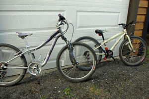 """Two 24"""" Specialized kids bikes for sale"""