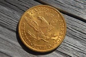 RARE - 1882 US Liberty $5 Gold Coin - EXCELLENT CONDITION - 22K Gold