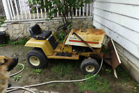 Older Sears Lawn Tractor With Snow Blade - 300.00 Or B/O