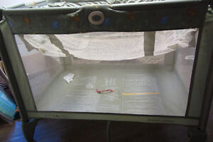 Older playpen, in acceptable condition, some wear, due to age.