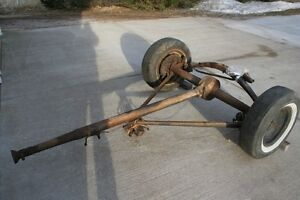 1937 ford rear end assembly, brakes, wishbone,driveshaft