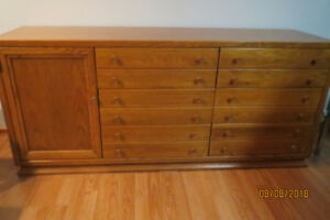 Solid oak dresser  & tallboy chest of drawers