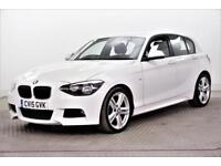 2015 BMW 1 Series 125D M SPORT Diesel white Manual
