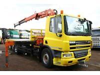 2012 DAF CF75.310 6X2 FLAT BED TRUCK WITH HIAB 125.2 8.1/2 (A2) B3 CRANE LORRY