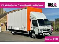 2015 MITSUBISHI CANTER 7C15 47 EURO 6 7.5TON 19FT CURTAIN SIDED WITH TAIL LIFT T