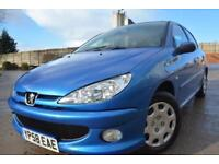 PEUGEOT 206 LOOK 1.4 HDI DIESEL 5 DOOR*LOW MILEAGE*FULL 12 MONTHS MOT*£30 TAX*