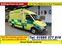 2005 - 05 - MERCEDES SPRINTER 416 2.7CDI AUTO UV MODULAR BODY AMBULANCE / CAMPER