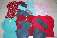 GIRLS SIZE 9 10 PAJAMA, SHIRT, TOP, JEANS *NEW* CLOTHING