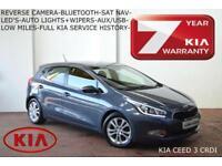 2013 Kia Ceed 1.6CRDi 3 126BHP-ONLY 34K-SAT NAV-CAMERA-FULL KIA HISTORY-