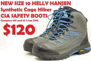 NEW SIZE 10 HELLY HANSEN  Synthetic Cage Hiker CSA SAFETY BOOTS