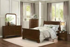 SUMMER SALE!!!!!!Abbeville Queen Bed Frame in Brown (Suite Available)