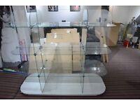 Glass Oval Display Unit