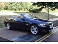 BMW 325 3.0 2008 i SE MANUAL CONVERTIBLE BLUE WITH CREME LEATHER XENON IMMACUL