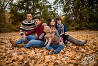 Photographer Offering Fall Sessions: Couples & Family Portraits