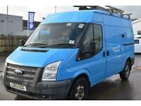 Ford Transit 330 MWB BRITISH GAS BLUE VAN 125 BHP SHELVING AIR CON Panel Van Die