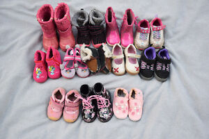 Girl shoes and boots sizes 5 to 7