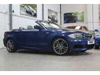 BMW 135i M Sport DCT Convertible, 61 Reg, 43k, Le Mans Blue, Sat Nav, Xenon's