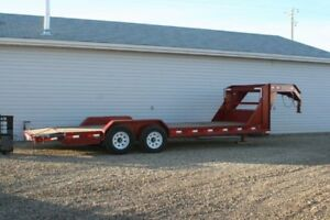 gooseneck lowboy trailer with 10000 lb winch