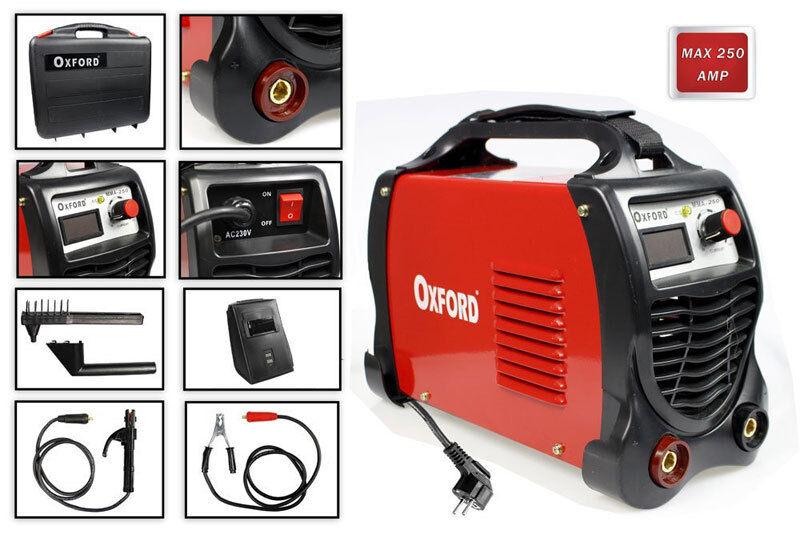 Saldatrice elettrica a inverter 250 ampere valigetta + accessori elettrodi 250a