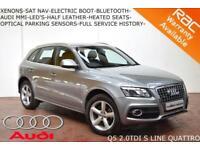 2011 Audi Q5 2.0 TDI S-LINE QUATTRO 170BHP-FOLD MIRRORS-HEATED SEATS-ELEC BOOT-