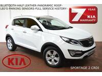 2013 Kia Sportage 1.7CRDi (2WD) 2-HALF LEATHER-PAN ROOF-BLUETOOTH-F.K.S.H.