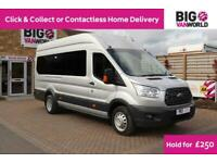 2018 FORD TRANSIT 460 TDCI 155 L4H3 TREND 17 SEAT BUS HIGH ROOF DRW RWD (14663)