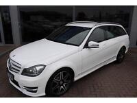 Mercedes C220 CDI BLUEEFFICIENCY AMG SPORT PLUS. VAT QUALIFYING