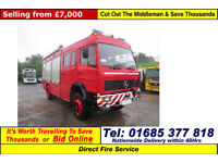 1995 - N - MERCEDES 1120 12TON AUTO 4X4 INCIDENT SUPPORT VEHICLE (GUIDE PRICE)