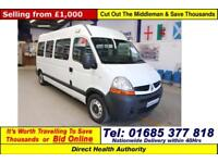 2008 - 08 - RENAULT MASTER 2.5DCI 120PS WILKER 7 SEAT DISABLED ACCESS MINIBUS