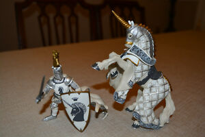 3 Papo Knights and their Horses, All 3 for $25 total