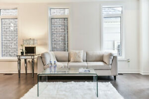Realtors - sofa, table, chairs, mirrors - great for staging !