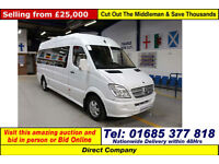 2011 MERCEDES SPRINTER TRAVELINER 2.2CDI 17 SEAT LUXURY MINI COACH (GUIDE PRICE)