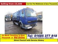 2006 - 55 - DAF LF 45.180 4X2 10TON AUTO GEESINK BODY REFUSE (GUIDE PRICE)