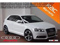 2012 Audi A3 2.0TDI (140ps) Black Edition S-LINE-LED LIGHTS-XENONS-B.TOOTH-P.D.C