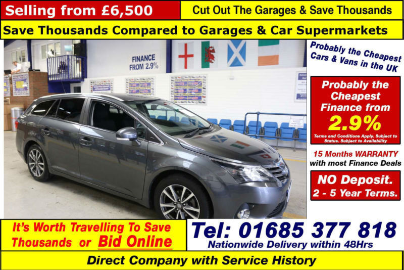 2013 - 63 - TOYOTA AVENSIS ICON 2.0D-4D 5 DOOR ESTATE (GUIDE PRICE)