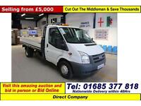 2011 - 11 - FORD TRANSIT T350 2.4TDCI 115PS LWB DROPSIDE (GUIDE PRICE)