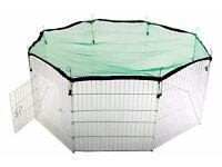 Rabbit - small pet outdoor fence playpen with net