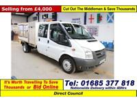 2007 - 07 - FORD TRANSIT T350 2.4TDCI 115PS RWD 7 SEAT CREW CAB CAGED TIPPER