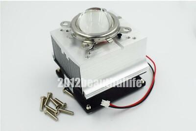 Dc12v Aluminum Heatsink Radiator With Fan 6090120degree Angle For 50w 100w Led