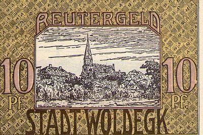 Stadt Woldegk Reutergeld 10 Pfennig