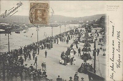 Chile Valparaiso Paseo En El Malecon N  3 Ed  Kirsinger 1906